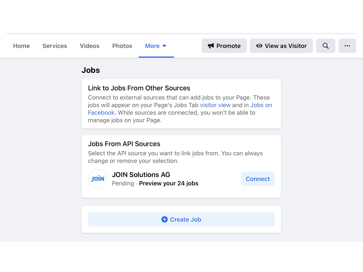 screenshot for connecting join-api with facebook